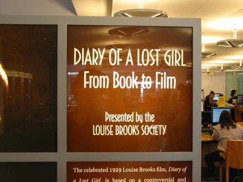 Louise Brooks at the San Francisco Public perpustakaan