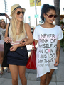 Mollie and Vanessa Shoppin in L.A x