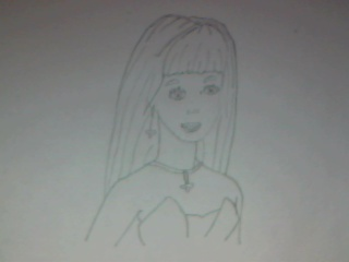 My drawing of Barbie