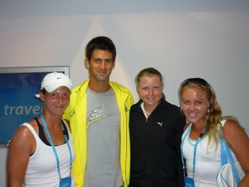 Novak Djokovic and tennis players