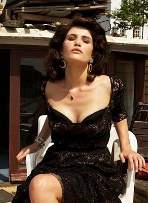 Gemma Arterton 바탕화면 possibly containing a 칵테일 dress titled Nylon Guys [2010]