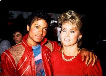 Olivia Newton-John and Michael Jackson