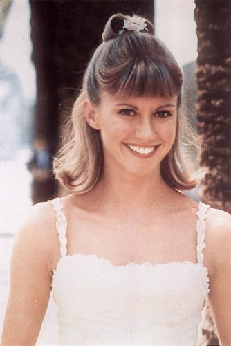 Olivia as Sandy in Grease