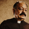 Machete photo possibly with a business suit and a portrait entitled Padre Cortez