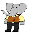 Pom - Grown-Up - babar-the-elephant fan art