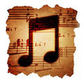 Sheet music note icon