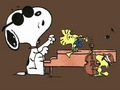 Snoop Rocking Out on Piano - peanuts photo