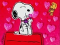 Snoopy Blowing Heart Shaped Bubbles