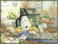 Snoopy Sleeping - peanuts wallpaper