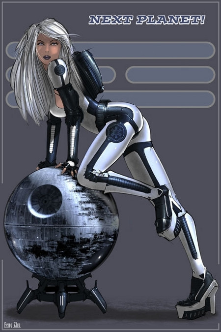 Star Wars Pin-Up Girl - star-wars Fan Art