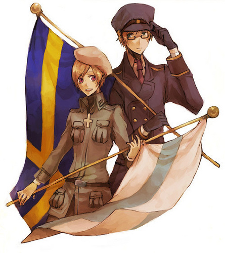 hetalia fondo de pantalla probably with a surcoat, a rifleman, and a tabardo entitled Sweden & Finland