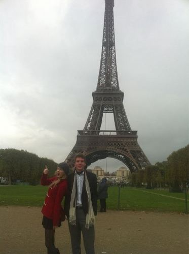 Taylor in Paris with her brother