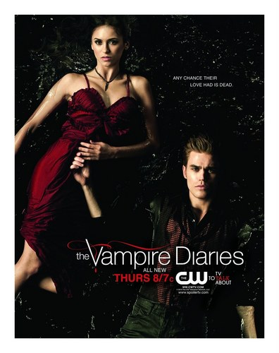 The Vampire Diaries TV Show wallpaper with a portrait titled The Vampire Diaries - Season 2 - November Sweeps Poster