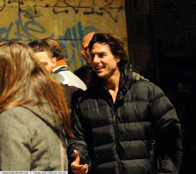 Tom On The Set Of Mission: Impossible - October 14, 2010
