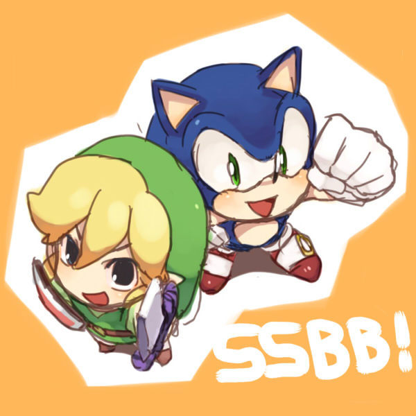 Toon  Link and Sonic :)