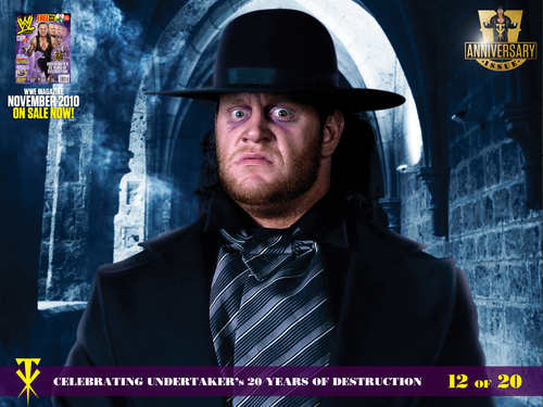 Undertaker Hintergrund probably with a business suit, a street, and a sign called Undertaker Hintergrund