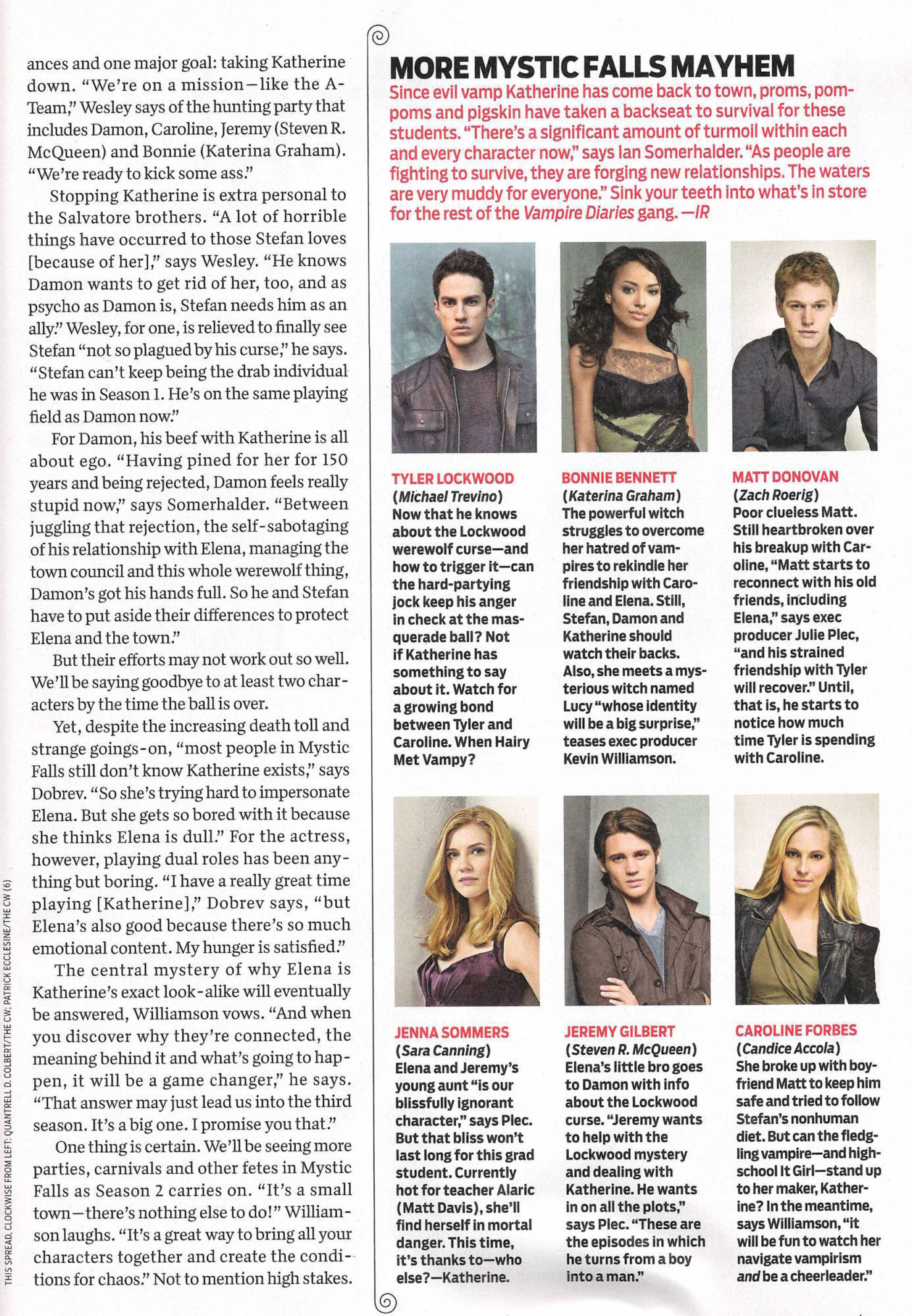 Vampire Diaries TVGuide Scan. [TYLER AND CAROLINE MUST READ!]