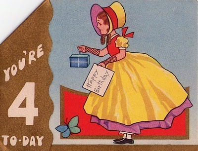 Vintage Birthday Girls Cards