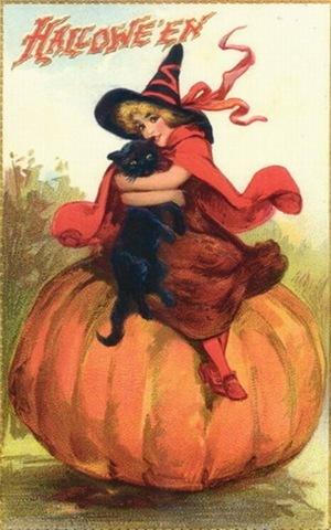 Vintage Halloween Cards - Vintage Fan Art (16379773) - Fanpop