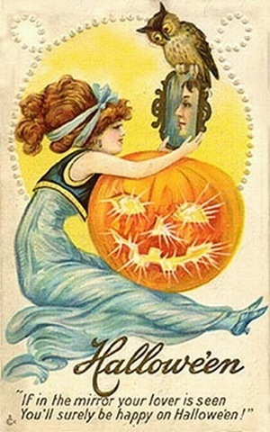 Vintage wallpaper containing anime titled Vintage Halloween Cards