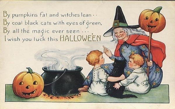 Vintage Halloween Cards - Vintage Fan Art (16379801) - Fanpop