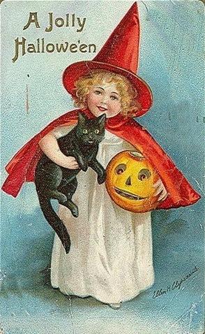 Vintage हैलोवीन Cards