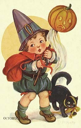 Vintage Halloween Cards  - vintage Fan Art