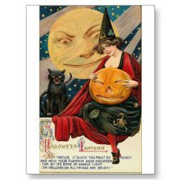 Vintage Dia das bruxas Cards