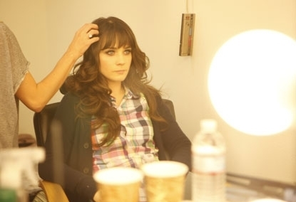 Zooey Deschanel wallpaper titled Zooey - Rimmel Ad behind the scenes