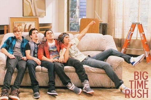 Big Time Rush wolpeyper with a living room, a family room, and a drawing room called big time rush on set