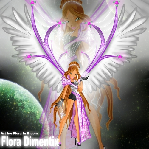 Winx Club Flora wolpeyper probably containing a bouquet entitled flo