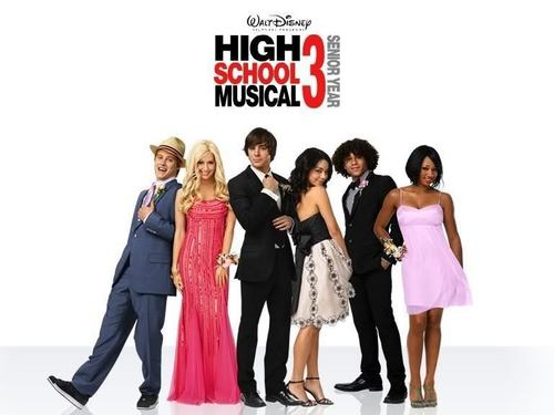 High School Musical 3 wallpaper possibly containing a bridesmaid, a dinner dress, and a well dressed person entitled hsm cast