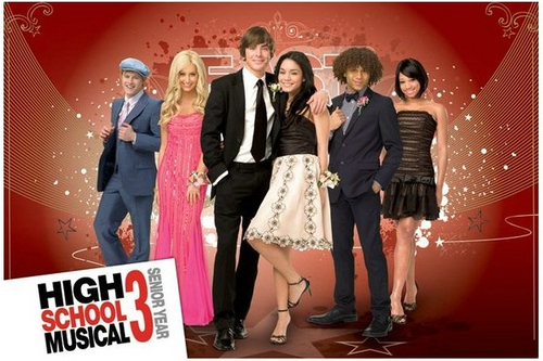High School Musical 3 wallpaper possibly with a dinner dress, a bridesmaid, and a cocktail dress titled hsm3