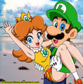 luigi and daisy - luigi fan art