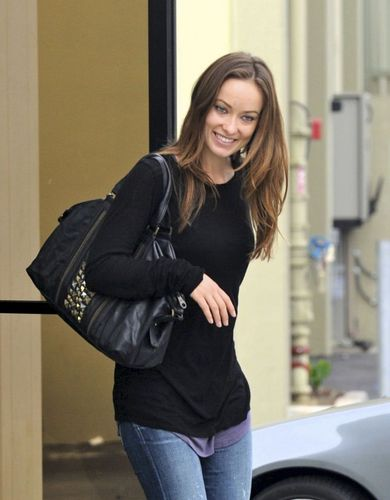 olivia wilde- Leaving an Office Building in Inglewood October 15, 2010