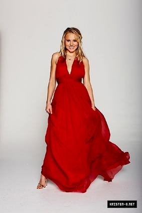 Kristen Bell wallpaper possibly containing a gown, a tea gown, and a dinner dress called outtakes from Shape shoot