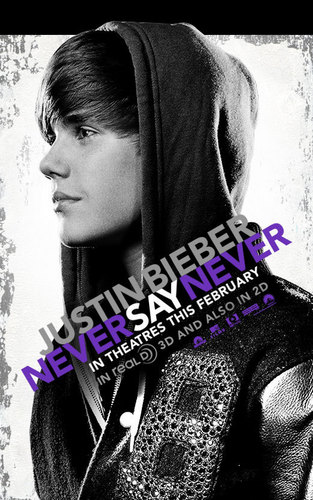 poster of 'never say never' (justin 's 3D movie)