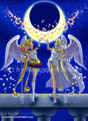 sailor moon and sailor comite