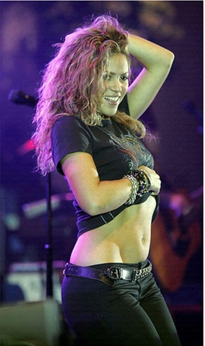 Shakira wallpaper probably containing a swimsuit, a lingerie, and a bikini entitled shakira hot n cold !!!