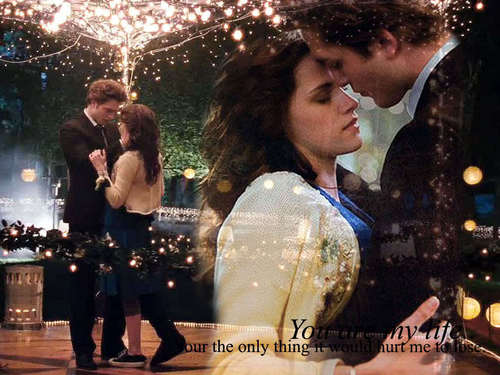 edward dan bella wallpaper entitled *•~-.¸,.-~*Edward&Bella*•~-.¸,.-~*