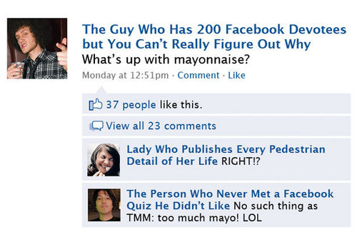 Annoying Facebook Friends