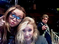 At the set of HM :D - miley-cyrus-and-emily-osment photo