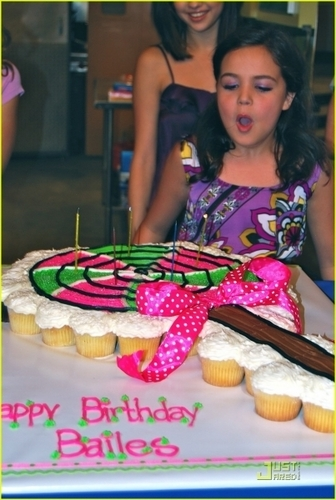 Bailee Celebrating her Birthday at WOWP set