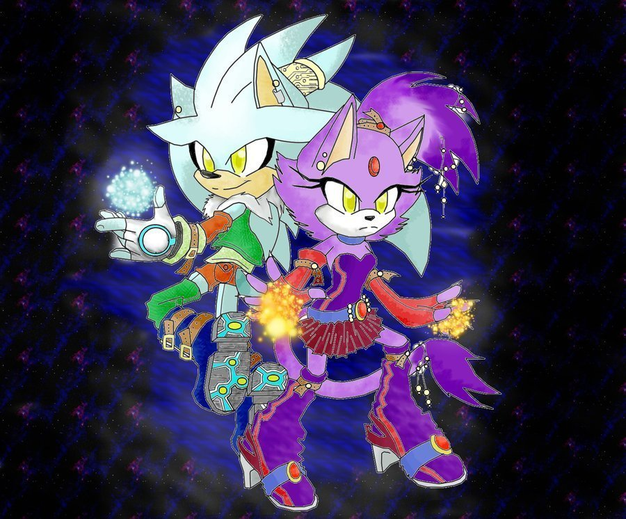 blaze cat. Blaze and Silver in space