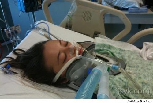 Caitlin In The Hospital
