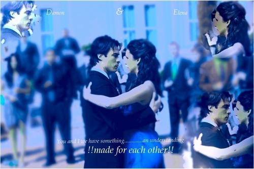 Damon&Elena and Ian&Nina wallpaper entitled DE