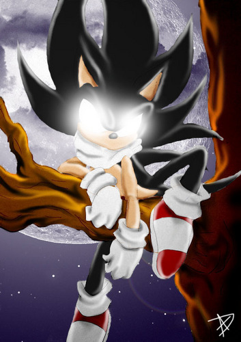 Sonic the Hedgehog wallpaper entitled Dark Sonic in the Night