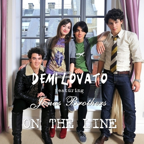 Demi Lovato feat. Jonas Brothers - On The Line [My FanMade Single Cover]
