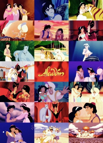 Aladin karatasi la kupamba ukuta called Disney Movie Collage - Aladin
