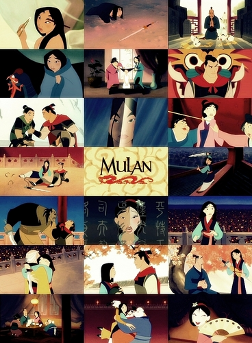 Disney Movie collage - Mulan